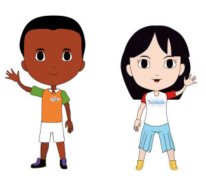 Evan and Akiko Welcome Characters